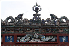 Dragons, roof detail, Chan She Shu Yuen Clan Association building.