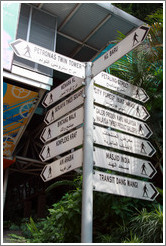 Destination sign, Jalan Ampang.