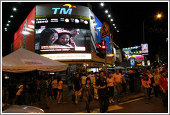 Jalan Bukit Bintang at night.