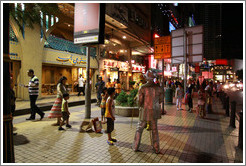 Street performers, Jalan Bukit Bintang at night.