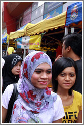 People at the market on Lorong Tuanku Abdul Rahman.