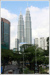 Petronas Towers, viewed from Jalan Ampang.