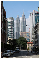 Petronas Towers, viewed from Jalan Dang Wangi.