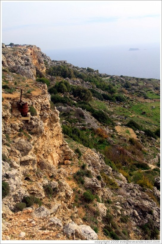 Dingli Cliffs, with Filfla visible in the background.