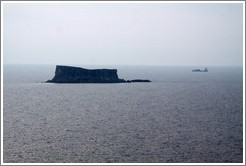 Filfla, the southernmost islet in the Maltese archipelago.