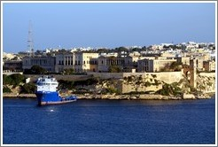 Kalkara, viewed from the British Hotel, Valletta.