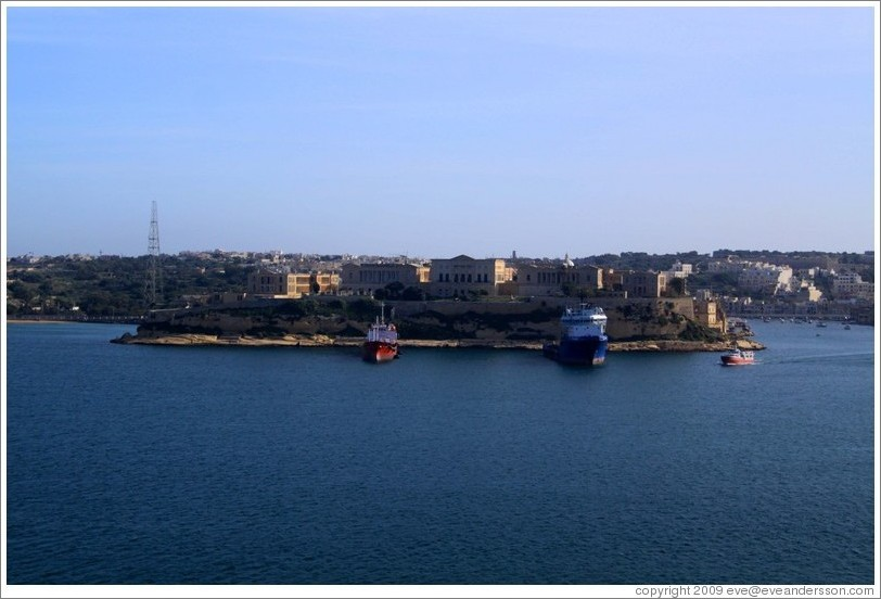 Kalkara, viewed from the Lower Barakka Gardens, Valletta.