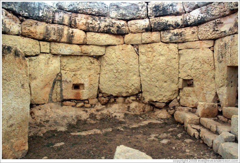 Mnajdra, a megalithic temple complex.
