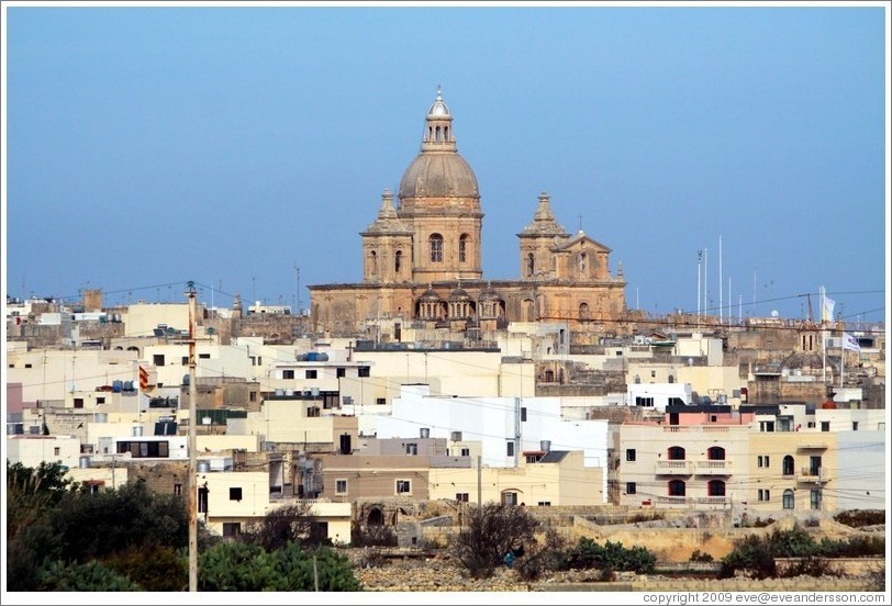 Siġġiewi, a village in the southwest of Malta.