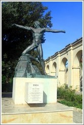 Statue entitled ENEA by Ugo Attardi, Lower Barakka Gardens (Il-Barrakka t'Isfel).
