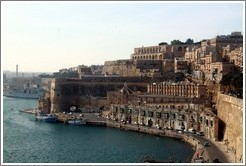 View of Valletta waterfront from Lower Barakka Gardens (Il-Barrakka t'Isfel).