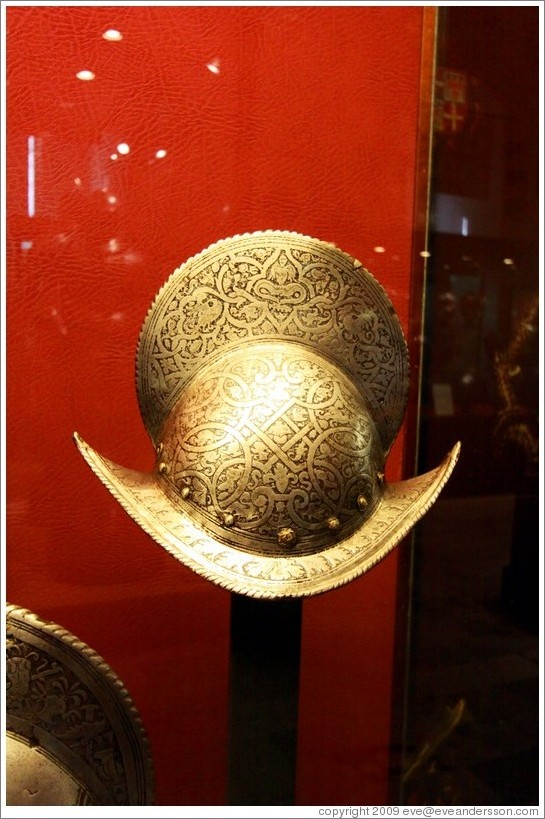 Comb Morion, a type of military helmet, Palace of the Grand Master.