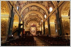 Nave, St. Johns Co-Cathedral (Kon-Katidral ta' San Ġwann).