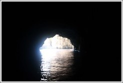 Looking out from within the Blue Grotto.