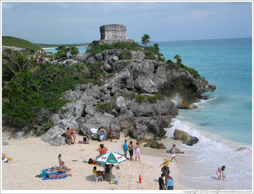 Beach at Tulum.