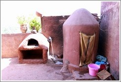 Oven and shower.  House belonging to a Berber family.