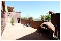 Patio with oven.  House belonging to a Berber family.