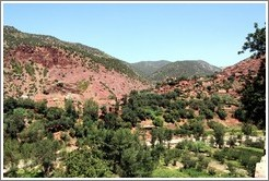 Berber Village in the red Atlas Mountains.