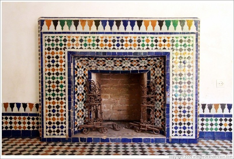 Fireplace, Bahia Palace.