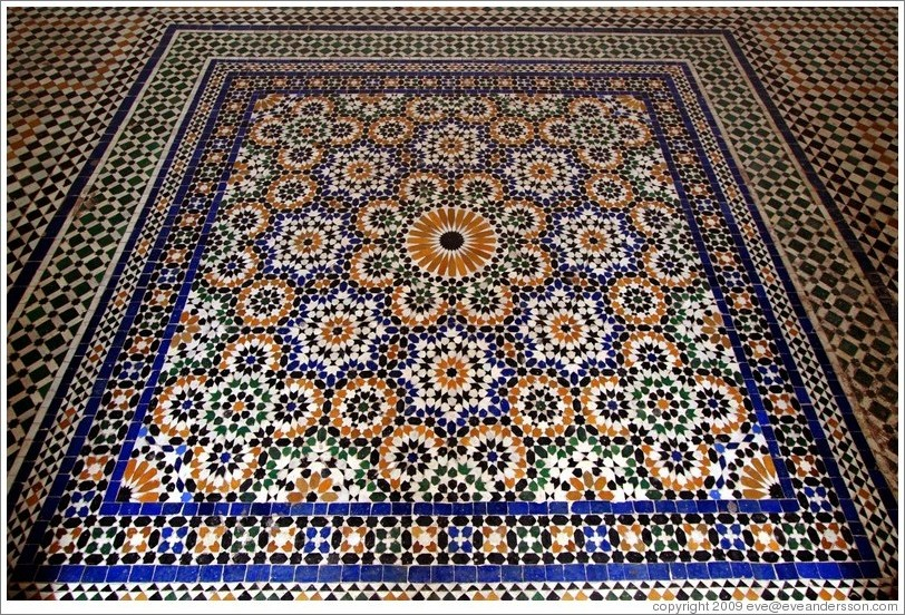 Floor, Bahia Palace.
