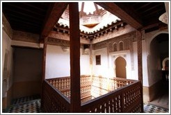 Pavilion, student chambers, Ben Youssef Medersa.