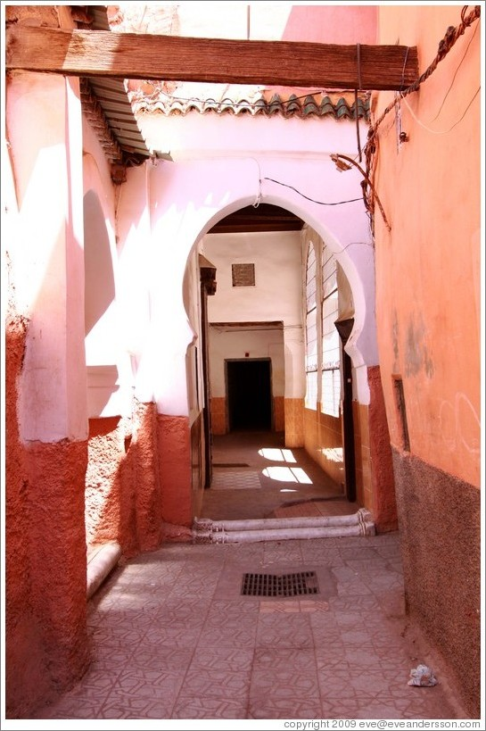 Doorway leading to a mosque in the Medina.