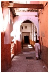 Man and doorway leading to a mosque in the Medina.