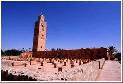 Koutoubia Mosque, the largest mosque in Marrakech.