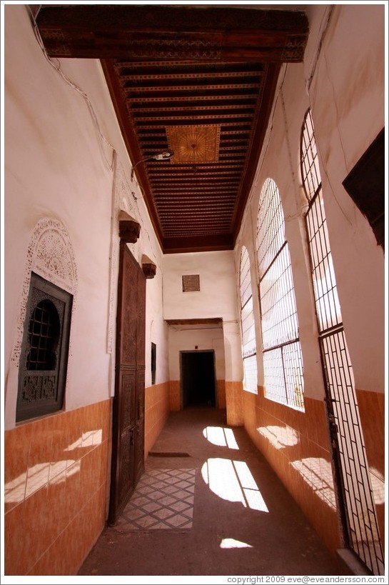 Small courtyard adjacent to a mosque in the Medina.