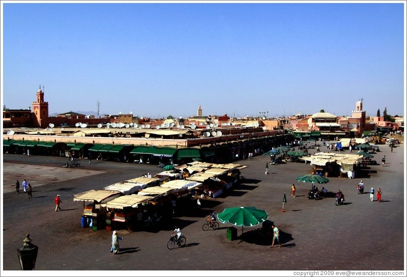 Jemaa el Fna, viewed from Caf?lacier.