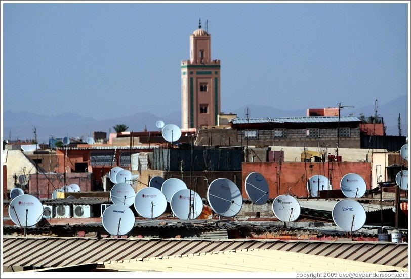 Satellite dishes, Jemaa el Fna.