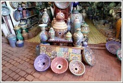 Pottery for sale in the souks.