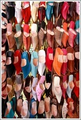 Shoes for sale in the souks.