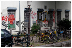 Graffiti and bicycles, Centrum district.