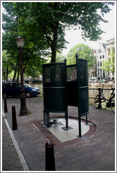 Urinoir (partially exposed outdoor standing toilet).  Centrum district.
