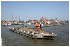 Volendam viewed from Markermeer (a large lake in Northern Holland).