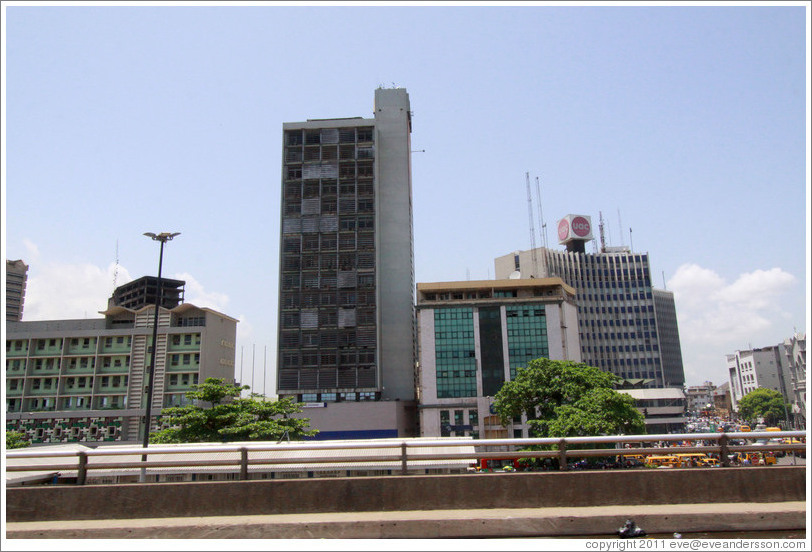 Buildings viewed from Marina Street, Lagos Island.