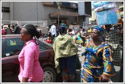 Women walking. Lagos Island.