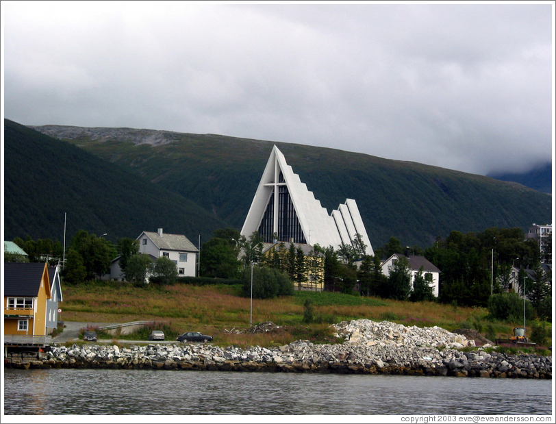 Church across the bay from downtown.