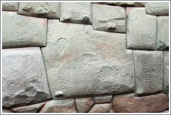 12-sided Inca stone, an example of the perfect craftmanship of the walls of Palacio del Inka Roka, Calle Hatun Rumiyoc.