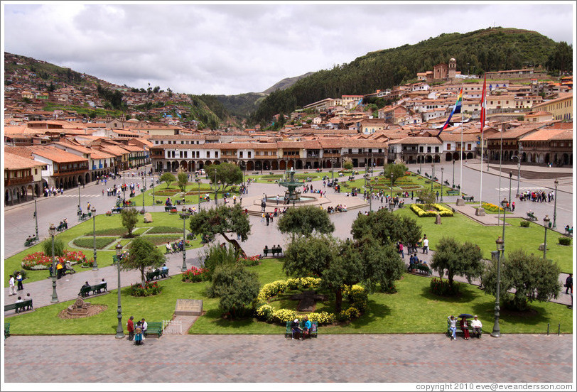 Plaza de Armas, viewed from La Compa?de Jes?s.