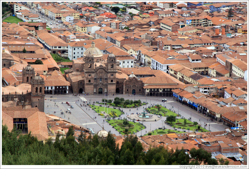 Plaza de Armas, viewed from Sacsayhuam?