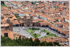 Plaza de Armas, viewed from Sacsayhuam�n.