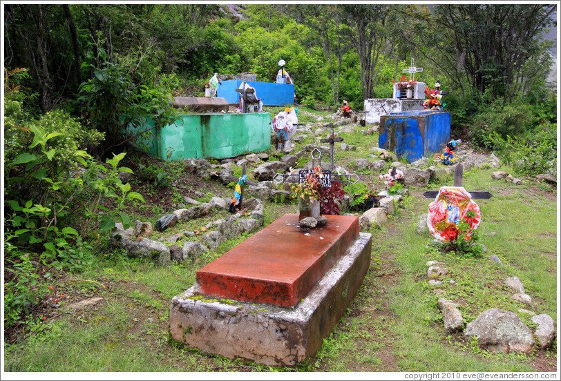 Graveyard at the side of the Inca Trail.