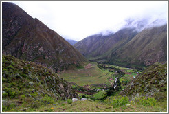 Valley and mountains, seen from the Inca Trail.