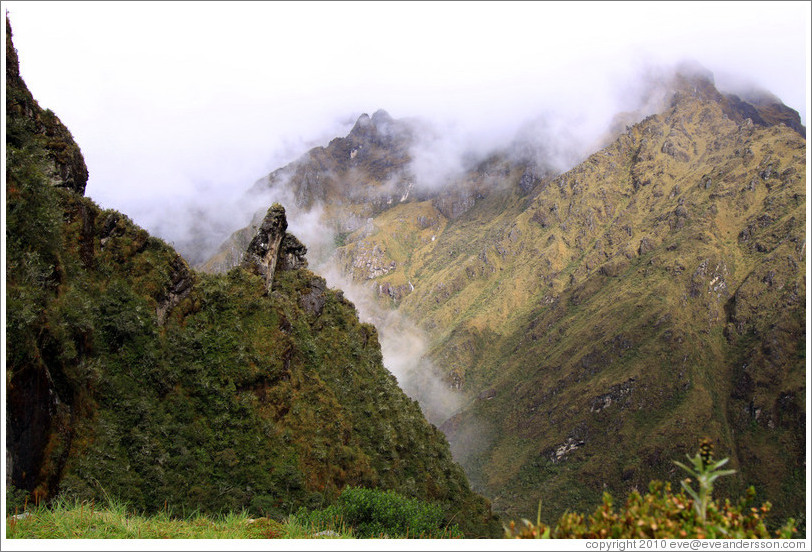 Mountains seen from the Inca Trail.