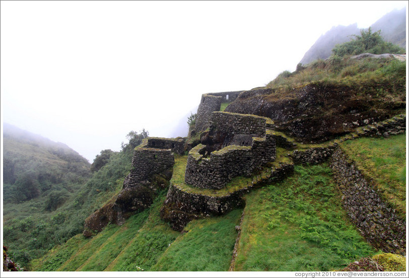Ruins at the side of the Inca Trail.
