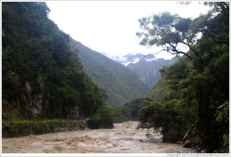 Urubamba River, seen from the Inca Trail.