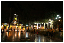 Plaza San Francisco at night, Barranco Neighborhood.