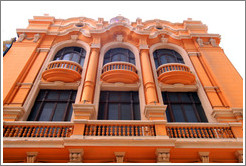Orange building, Calle de Serrano, Historic Center of Lima.